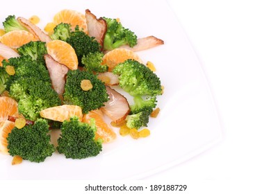 Close up of broccoli salad. Whole background.