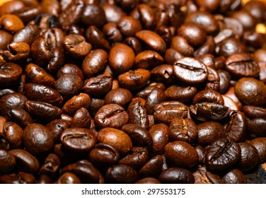 close up brown coffee background texture