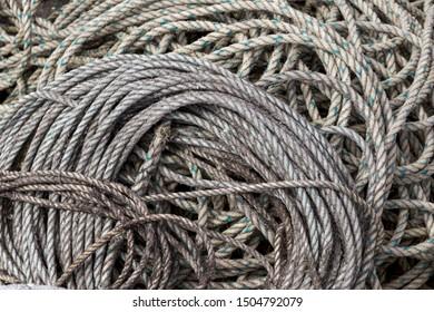 Close up of Brown Fishing Ropes