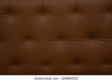 Close up brown leatherette sofa , close up modern sofa for background or texture.