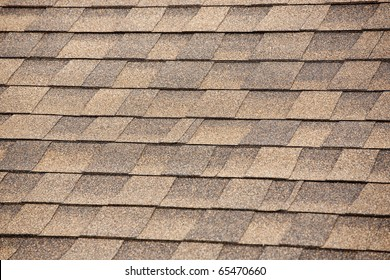 Close up of Brown Roof Shingles