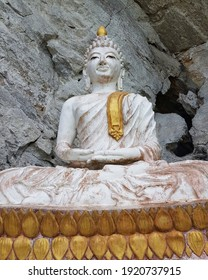 Close up of Buddha statue in temple