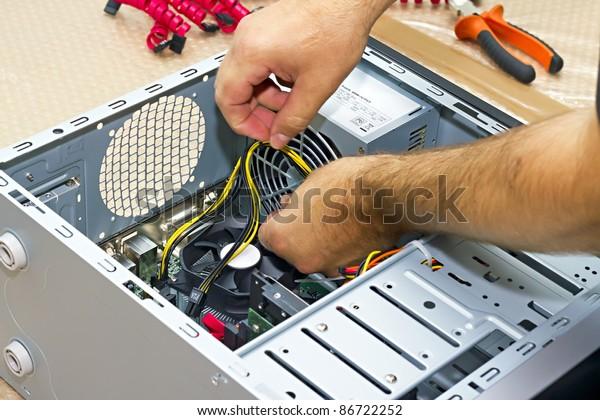 close up Build a PC builder