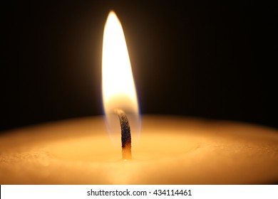 Close up of a burning candle flame