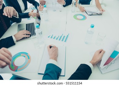 Close up of business group meeting and discussion of future plan