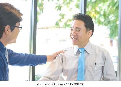 Close up Business man handshake,Concept Business Success