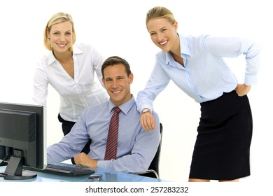 Close business Partners at workplace