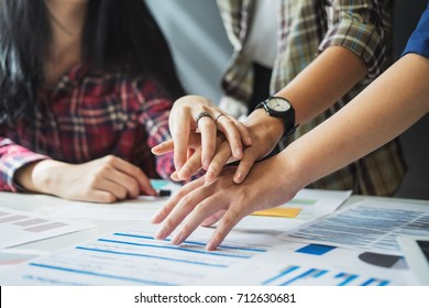 Startup Teamwork Diversity Inclusion Concept Business Stock
