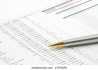 Close up of a business report