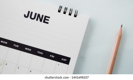 Close up calendar on white tone.