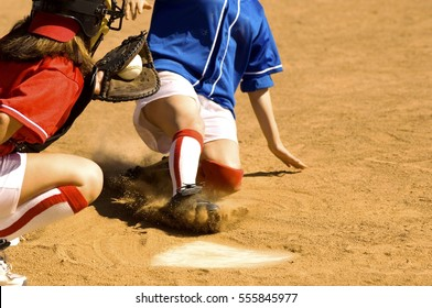 Close Call on Home Plate