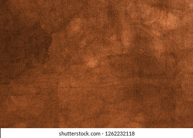 Close up of canvas of brown color. Abstract background, empty template