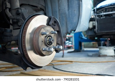 close up of car brake pads