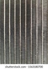 The close up car condenser coil texture