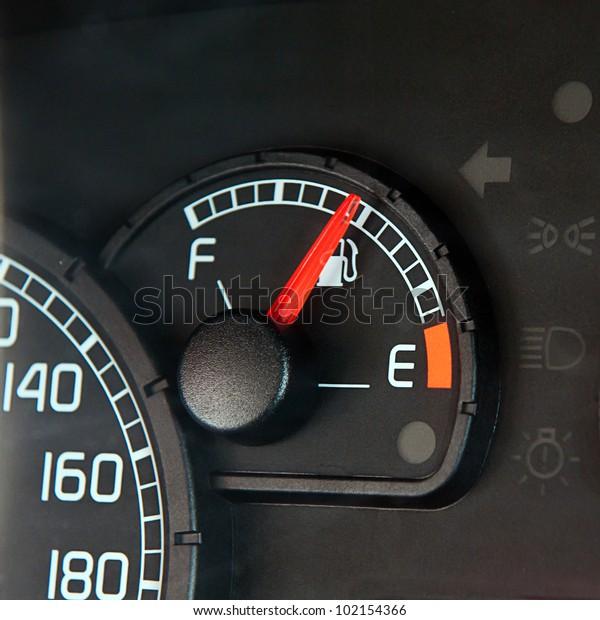 Close up of car dashboard