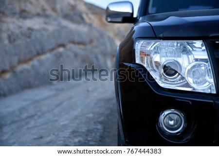 Close up Car head
