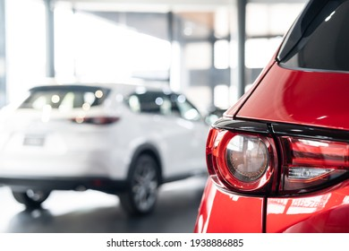 close up car on street automotive roadtrip on sunset background for transport in dealership service to travel to vehicle auto landscape light the sun for travel journey trip summer and lifestyle