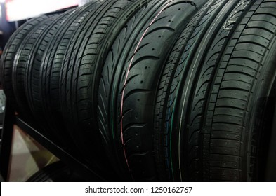 Close up Car tires