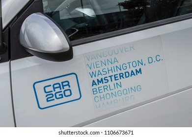 Close Up Of A Car2Go Car At Amsterdam The Netherlands 2018