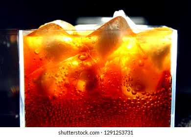 Close up of carbonated drink / Carbonated drinks are beverages that contain dissolved carbon dioxide