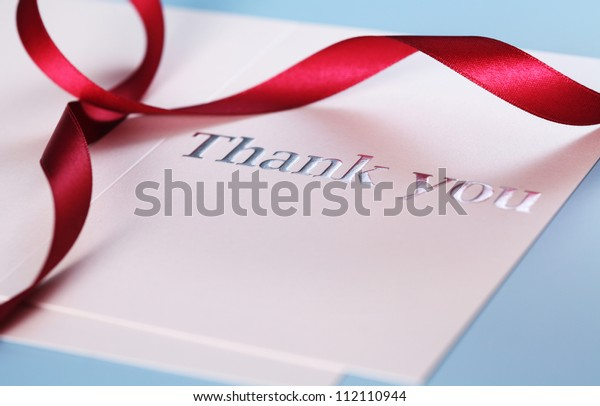 close up of the card with text Thank you