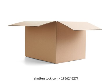 close up of  a cardboard box on white background - Shutterstock ID 1936248277