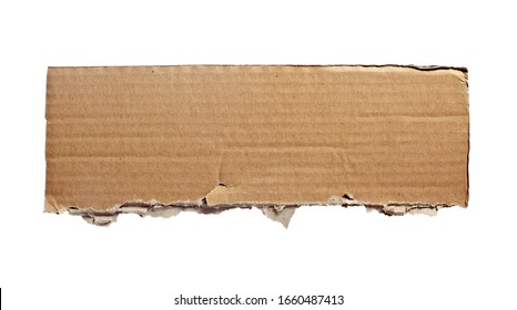 close up of a cardboard piece on white background
