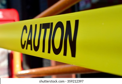 Close up of caution tape used in new york city/ Caution tape