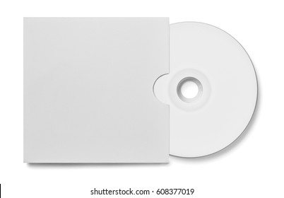 close up of a cd dvd disc on white background