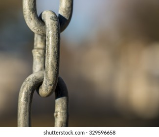 Close up of chain with blurred background