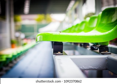 Close up chair green,