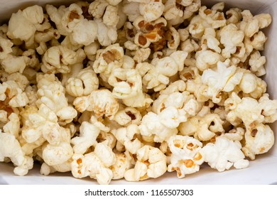 Close up Cheese popcorn in paper box.