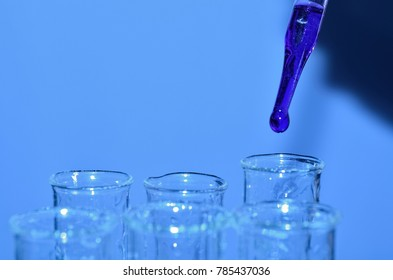 Close up chemical research laboratory