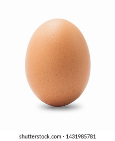 Close up of chicken egg isolated on white background with clipping path, high resolution files