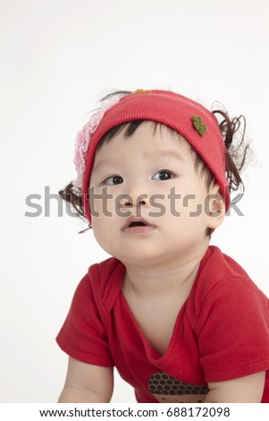 Close Chinese Baby Red Hair Band Stock Photo (Edit Now) 688172098 ... 1d8361bc613