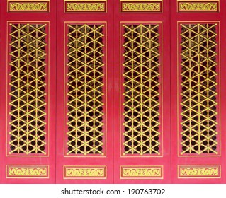 Close up Chinese door, Golden Dragon door