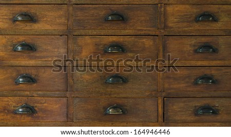 Close Up Of Chinese Medicine Cabinet