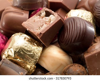 Close up of chocolate candies
