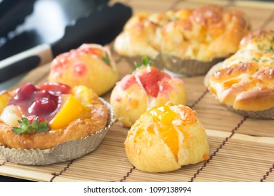Close up choux cream with bakery
