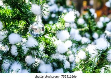 Close up Christmas ball / Christmas tree handmade