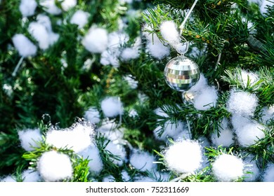 Close up Christmas ball / Christmas tree handmade backgrounds