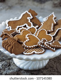 Close up of Christmas gingerbreads