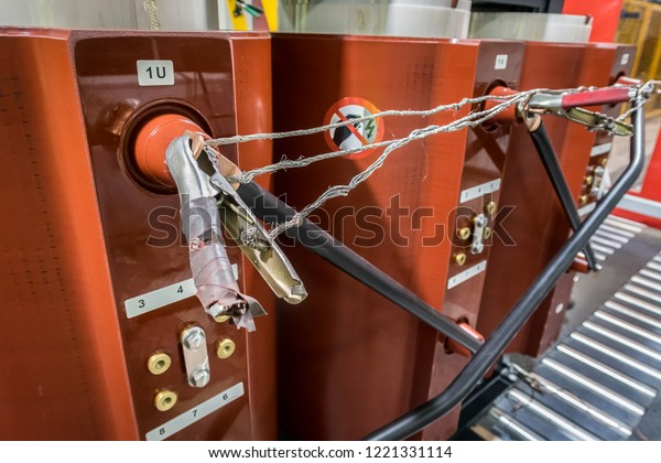 Close Clip Terminal Dry Type Transformer Stock Photo (Edit