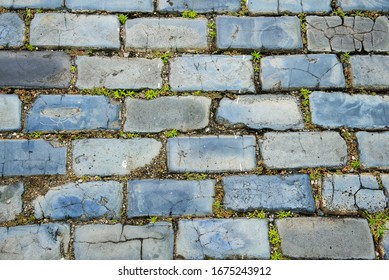 A close up of a cobble stone street in Old San Juan, Puerto Rico.