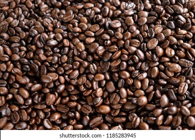 Close up coffee bean group background