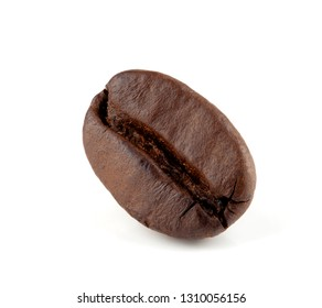 Close up coffee bean on white background