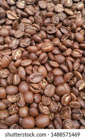Close up of coffee beans for background