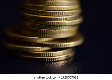 Close up coins with macro lens 2 THB coins.