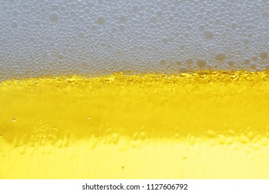 close up of cold beer texture.