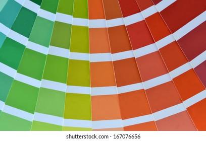 Close up of a color catalog
